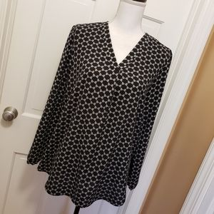 Adrianna Papell black/white blouse-Large